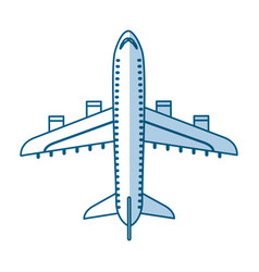shadow airplane cartoon vector image