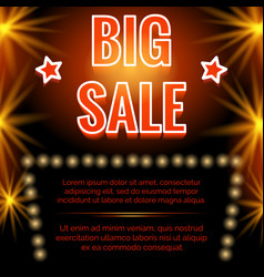 shining big sale poster design vector image vector image