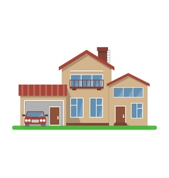 Stylish house vector image vector image