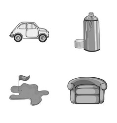 Transport golf and other monochrome icon in vector