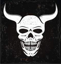 White devil skulls vector