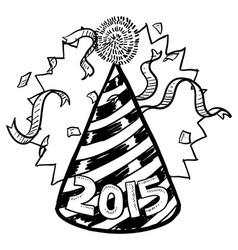 Happy new year hat 2015 vector