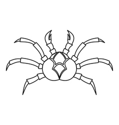 Fresh crab icon outline style vector