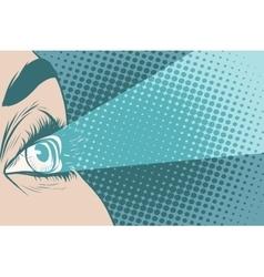 Glance spotlight eye girl vector