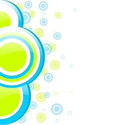 Blue and green circles vector image