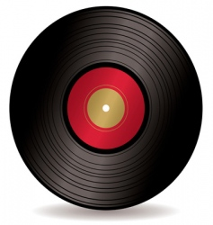 Lp record album vector