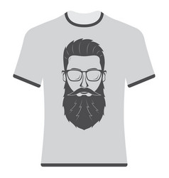 Prints t-shirts with the image of hipsters and vector