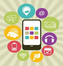 Phone apps icons vector
