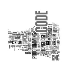What is g code and how does it fit with cnc text vector