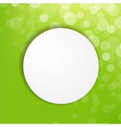 Abstract Green Bubble With Speech Bubble vector image