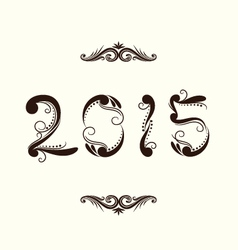 2015 year ornamental vector