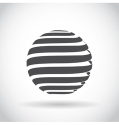 Abstract swirl sphere globe symbol vector