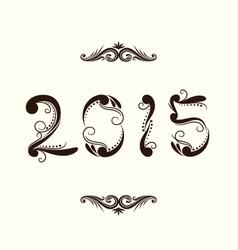 2015 year ornamental vector
