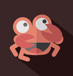 Modern flat design crab icon vector