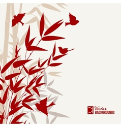 Bamboo print vector