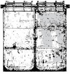 steel door vector image