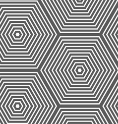 Monochrome striped hexagons vector
