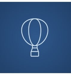 Hot air balloon line icon vector