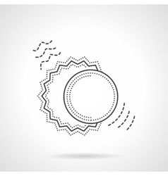 Sun and moon flat line design icon vector