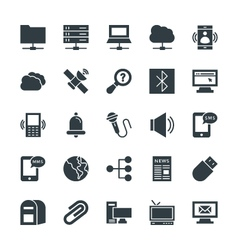 Communication cool icons 5 vector