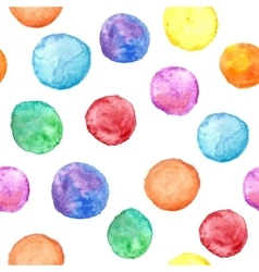 Seamless pattern with watercolor circles vector