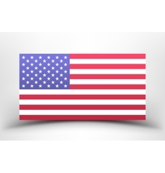 American national flag on a white background with vector image vector image