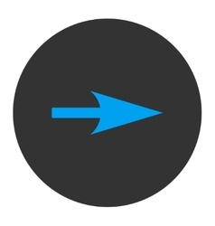 Arrow axis x flat blue and gray colors round vector
