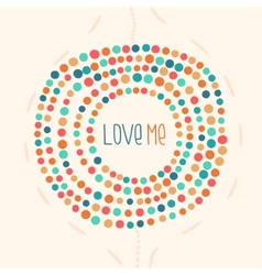 Background color pastel drawing dot point vector