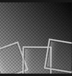 background template with three white squares vector image