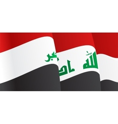 Background with waving iraq flag vector