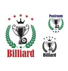 Billiard trophy cup vector
