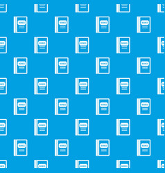 Business book pattern seamless blue vector