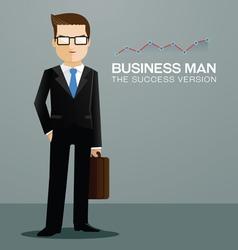 business man charactor vector image