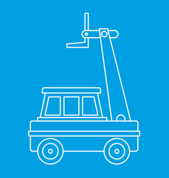 Cherry picker icon outline vector