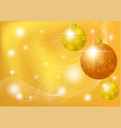 Christmas background with stars and balls vector