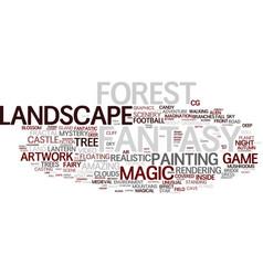 fantasy word cloud concept vector image vector image