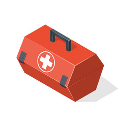 First aid kit isolated on white background vector