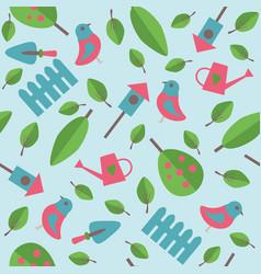 gardening seamless pattern vector image