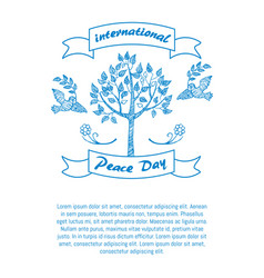 international day of peace promotional poster vector image vector image