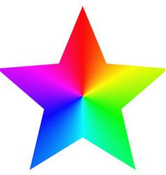 Isolated gradient rainbow star design template vector
