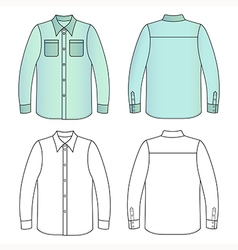 mans buttoned shirt vector image vector image