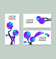 Marble trendy backgrounds placards with abstract vector