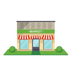 Market facade isolated icon vector