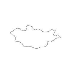 Mongolia map silhouette vector