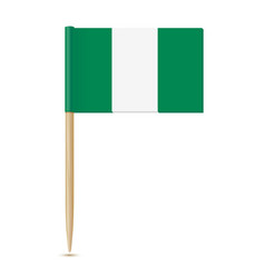 Nigeria flag flag toothpick vector