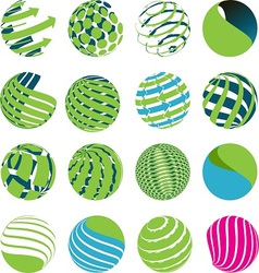 planets and globes vector image vector image