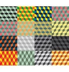 Seamless geometric colorful background vector image vector image