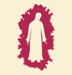 Silhouette of the lord jesus christ vector