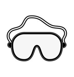 ski googles equipment vector image vector image