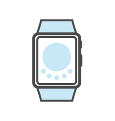 smartwatch isolated linear icon vector image